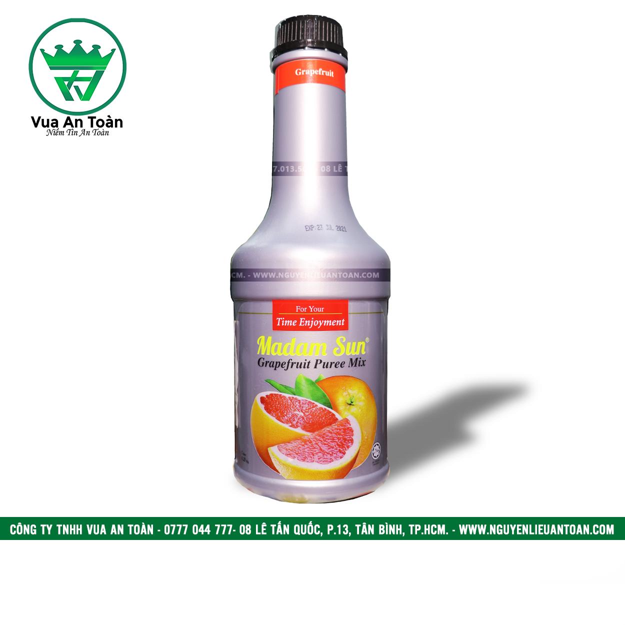 Mứt Trái Cây Madam Sun Bưởi Hồng - Puree Madam Pink Grapefruit
